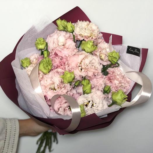 Ажурная эустома: букеты цветов на заказ Flowwow