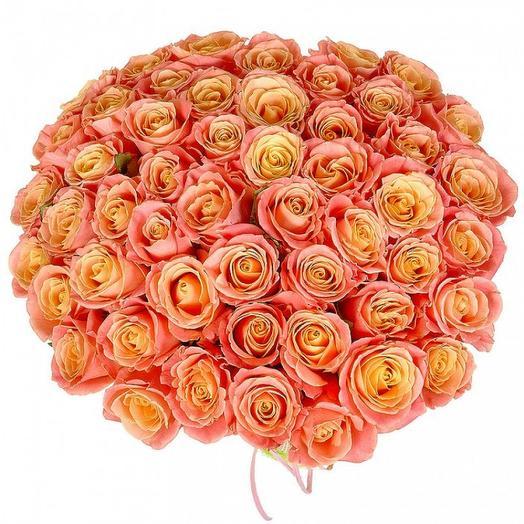"""Букет роз """"Мисс Пигги"""": букеты цветов на заказ Flowwow"""