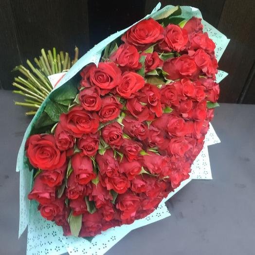Букет из 101розы: букеты цветов на заказ Flowwow