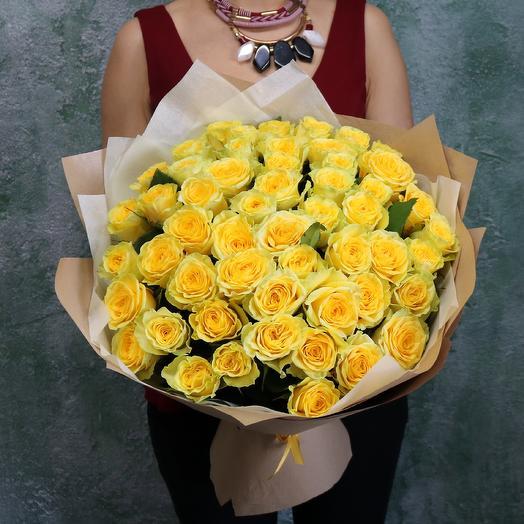 Букет из жёлтых роз: букеты цветов на заказ Flowwow