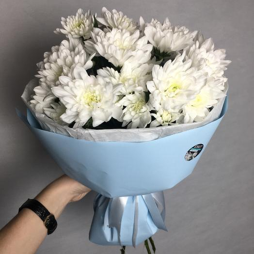 Белоснежные хризантемы