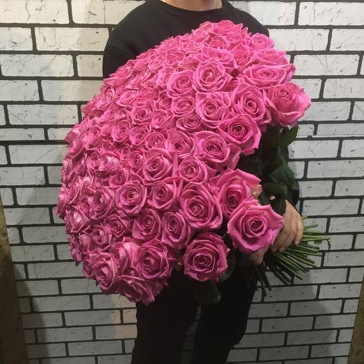 Шикарные розовые розы: букеты цветов на заказ Flowwow