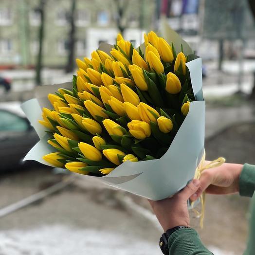 Букет из 45 Тюльпанов: букеты цветов на заказ Flowwow