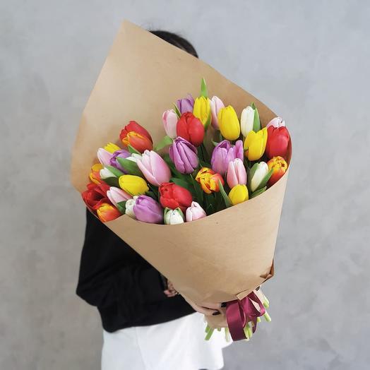 35 тюльпаны микс