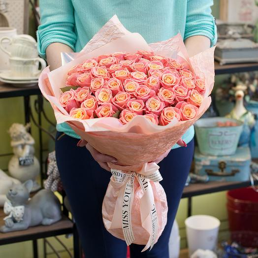 Букет из роз (51 роза)