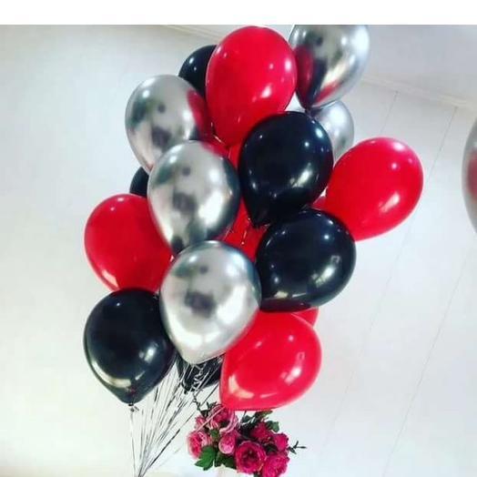 Фонтан из трёх видов шаров: букеты цветов на заказ Flowwow