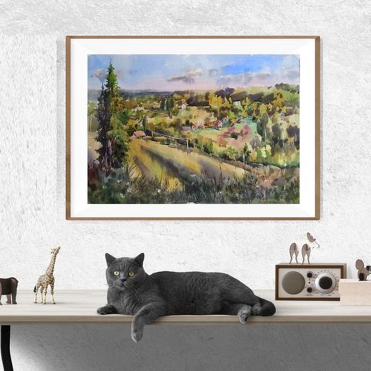 """Картина """"Вечерняя панорама"""""""