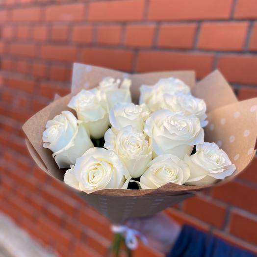 11 роз премиум Эквадор 40 см