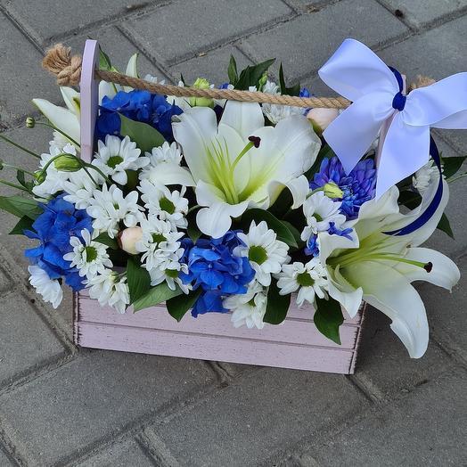 Прекрасный ящик с цветами