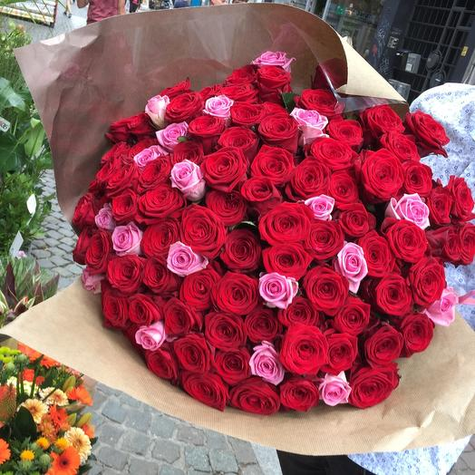 101 roses bouquet red / pink