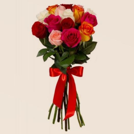 Охапка из 15 кенийских роз