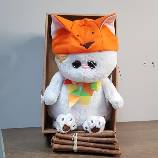 Кошечка Ли Ли в шапке лисичка