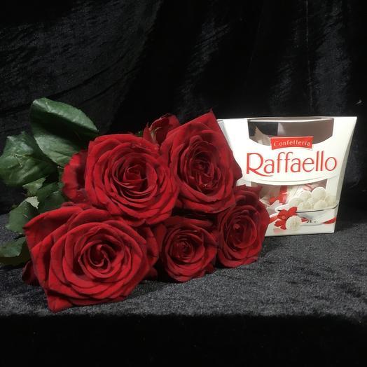 5 Роз с Рафаэлло
