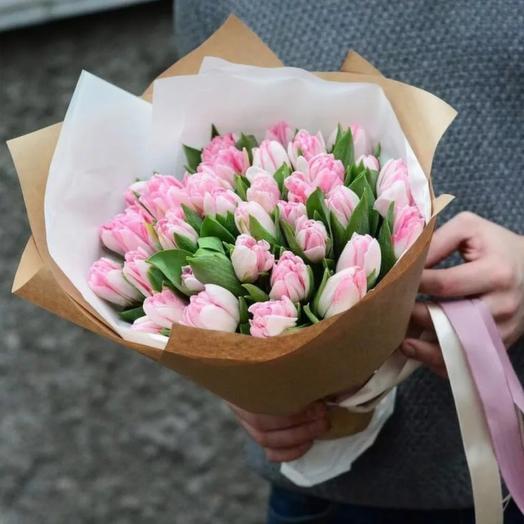 Тюльпаны сортовые розовые премиум