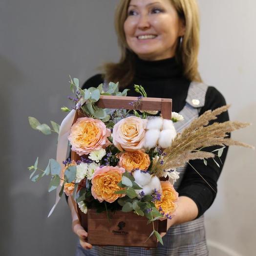 Ящик с Цветами для Любимой Мамы (День Матери)