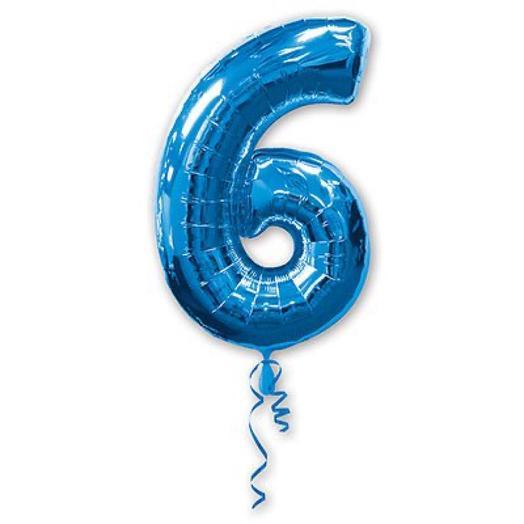 Цифра 6 гелий