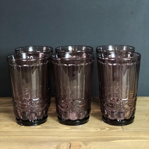 Стаканы«Ла-Манш», 350 мл, 8х8х12,5 см, 6 шт, цвет розовый