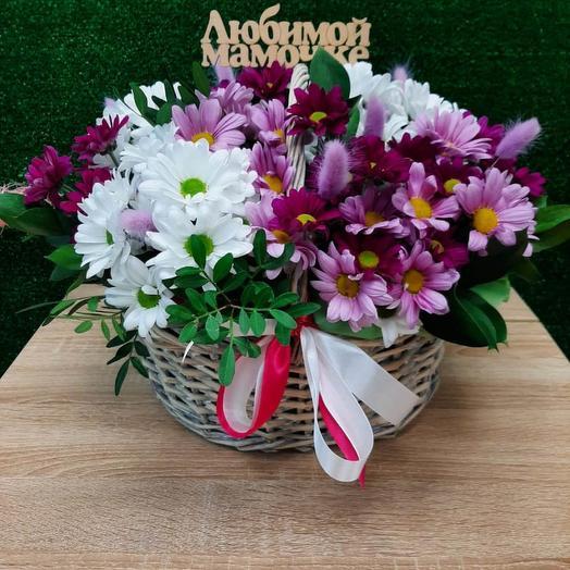 Корзинка хризантем