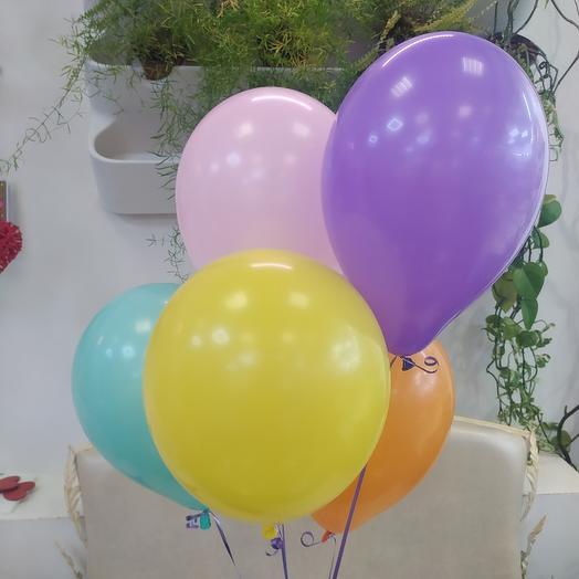 5 воздушных шарика