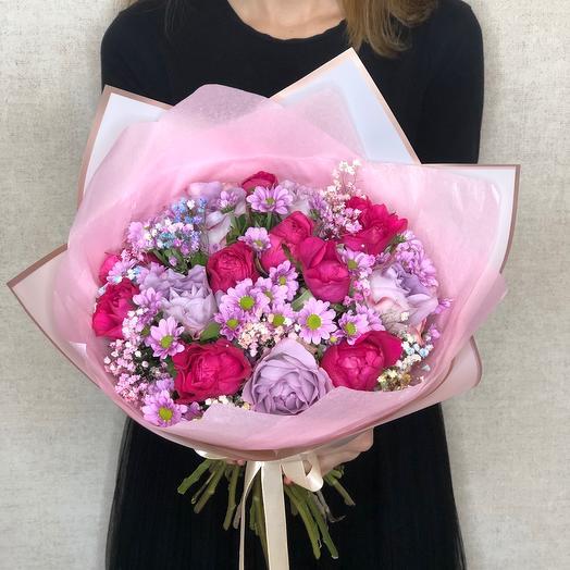 Букет «Нежность» с розами