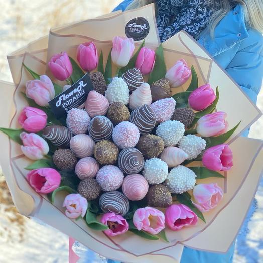 Клубничный букет «Весна»