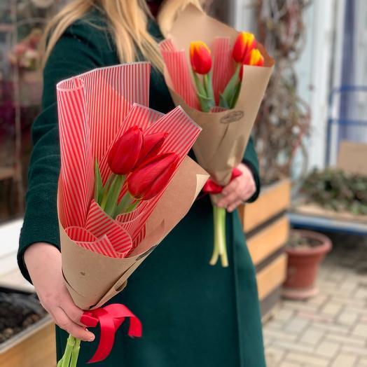 3 тюльпана + оформление 😍