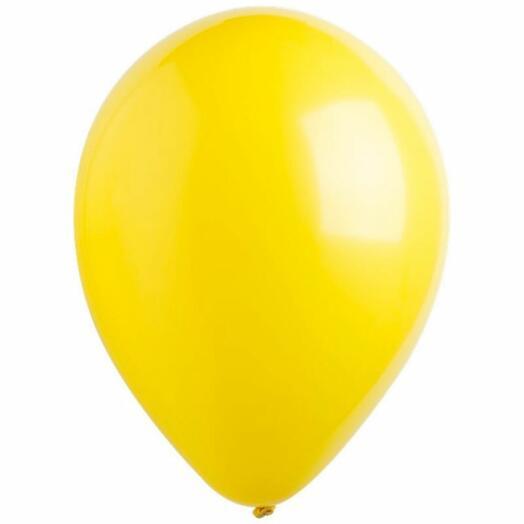 Шар с гелием желтый
