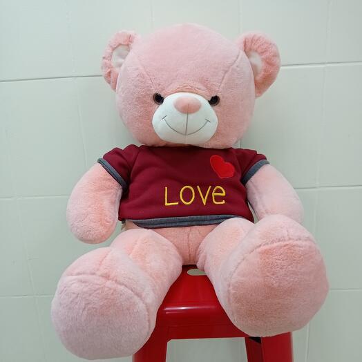 Медведь розовый