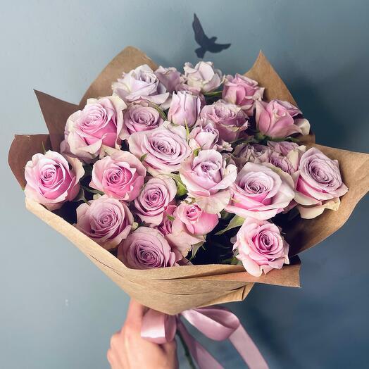Роза кустовая лаванда