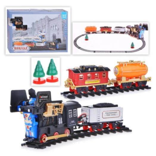 Железная дорога Вокзал на батарейках(свет,звук) в коробке