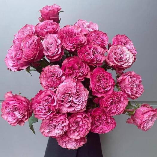 МегаКрутой букет из моно пионовидных роз. 99% она таких ещё не видела