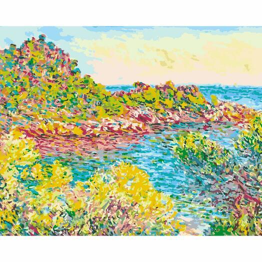 Картина по номерам Яркий залив