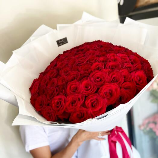 """Bouquet of 101 roses """"For favorite"""""""