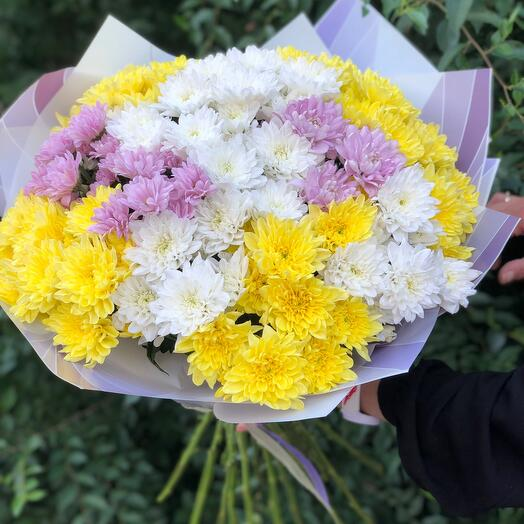 """Bouquet of chrysanthemums """"Summer happiness"""""""