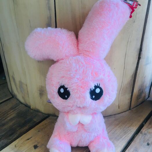Зайчик розовый с крылышками