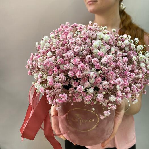 Цветы в коробке «Розе»