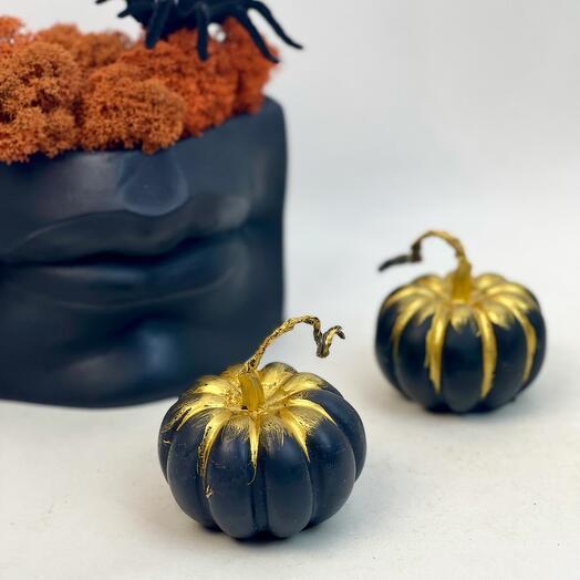 Набор на Хеллоуин Губы и чёрные свечи тыковки