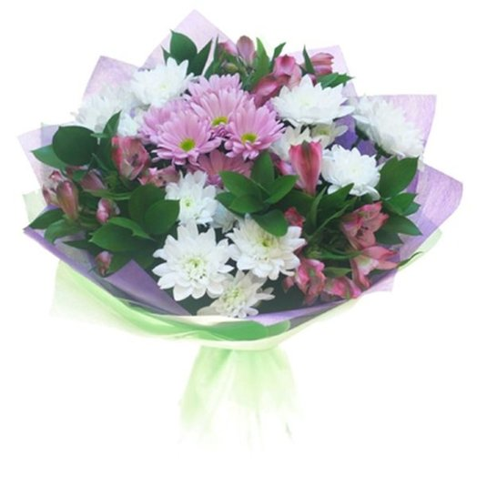 Mixed bouquet of chrysanthemums and alstroemeria
