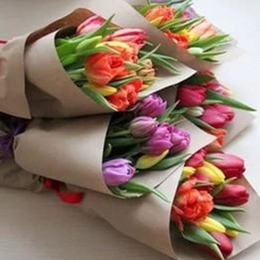 Букет Частичка моей души из 11 тюльпанов Код 170036 1 ш: букеты цветов на заказ Flowwow