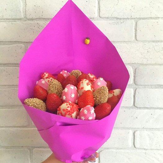 Букет Клубничный микс 25 шт: букеты цветов на заказ Flowwow