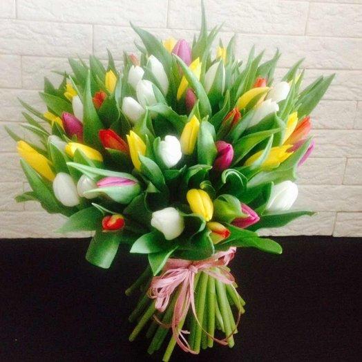 Тюльпановый мис: букеты цветов на заказ Flowwow
