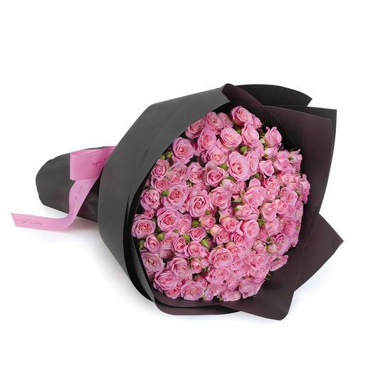 29 кустовых нежно-розовых роз с оформлением: букеты цветов на заказ Flowwow