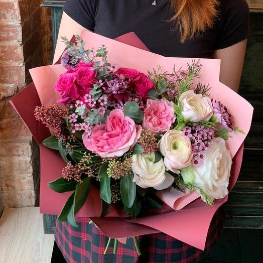 Букет малиновый чизкейк: букеты цветов на заказ Flowwow