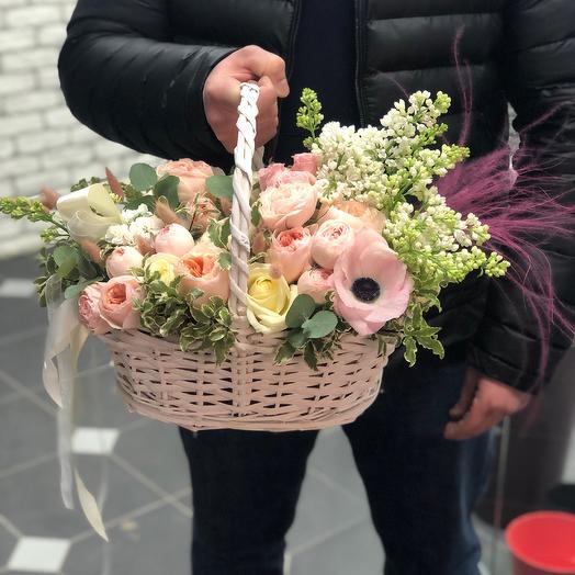Весенняя корзина: букеты цветов на заказ Flowwow