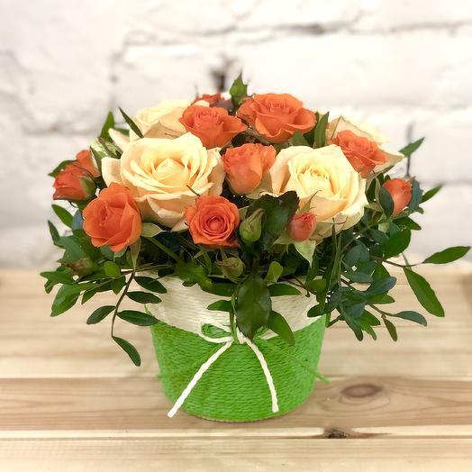 "Корзинка ""Мандаринка"": букеты цветов на заказ Flowwow"