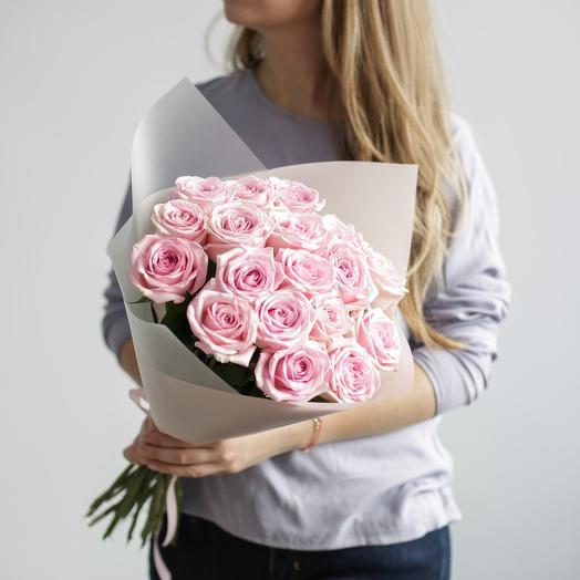 Нежный букет роз: букеты цветов на заказ Flowwow