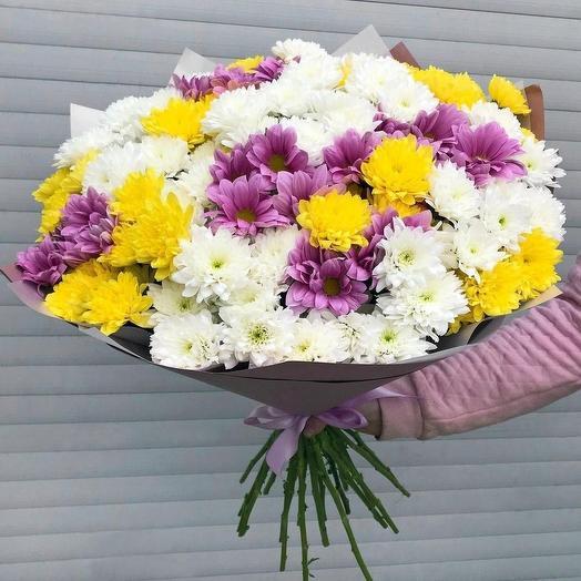 """Букет из 25 хризантем """"Возрождение"""": букеты цветов на заказ Flowwow"""