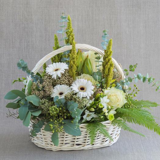 """Средняя композиция """"Малахит"""": букеты цветов на заказ Flowwow"""