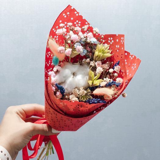 Сухоцветик 4: букеты цветов на заказ Flowwow