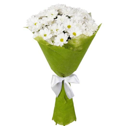 Букет из 5 пышных ромашковых хризантем: букеты цветов на заказ Flowwow